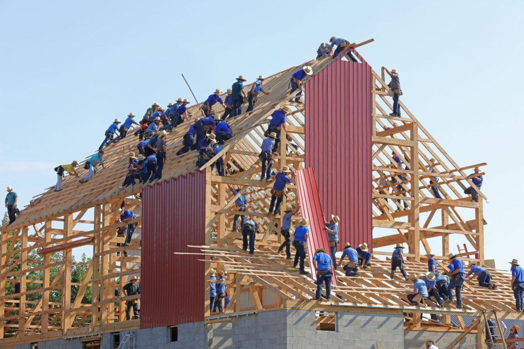 Munca pe şantierele de construcţii